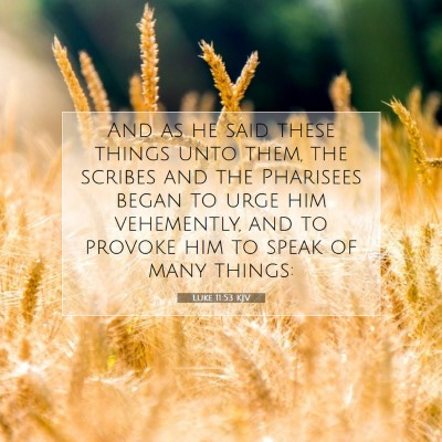 Picture 07 - Luke 11:53 KJV - And as he said these things unto them, the - Bible Verse Picture