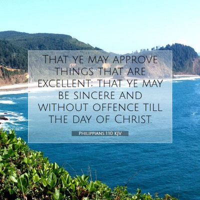 Picture 07 - Philippians 1:10 KJV - That ye may approve things that are excellent; - Bible Verse Picture