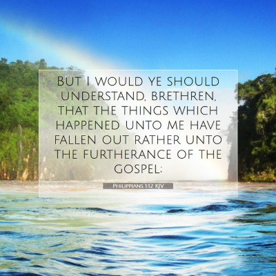 Picture 07 - Philippians 1:12 KJV - But I would ye should understand, brethren, that - Bible Verse Picture