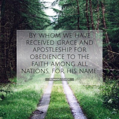 Picture 07 - Romans 1:5 KJV - By whom we have received grace and apostleship, - Bible Verse Picture