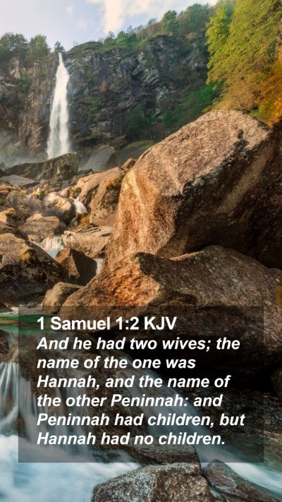 1 Samuel 1:2 KJV Mobile Phone Wallpaper - And he had two wives; the name of the one was - Mobile Bible Verse Wallpaper