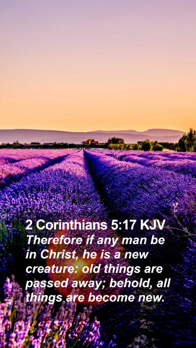 2 Corinthians 5:17 KJV Mobile Phone Wallpaper - Therefore if any man be in Christ, he is a new - Mobile Bible Verse Wallpaper