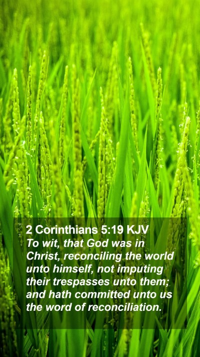 2 Corinthians 5:19 KJV Mobile Phone Wallpaper - To wit, that God was in Christ, reconciling the - Mobile Bible Verse Wallpaper