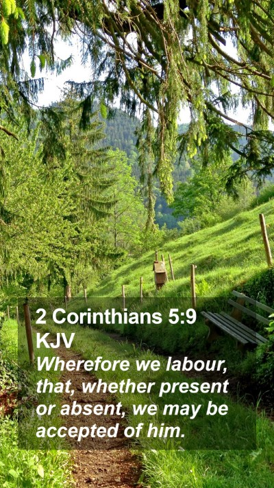2 Corinthians 5:9 KJV Mobile Phone Wallpaper - Wherefore we labour, that, whether present or - Mobile Bible Verse Wallpaper
