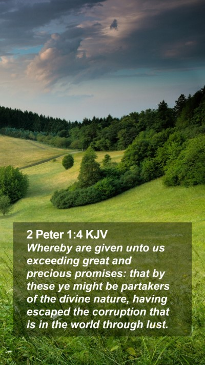2 Peter 1:4 KJV Mobile Phone Wallpaper - Whereby are given unto us exceeding great and - Mobile Bible Verse Wallpaper