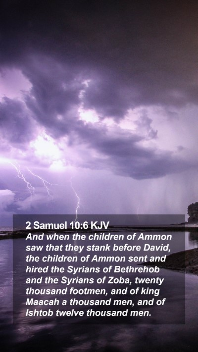 2 Samuel 10:6 KJV Mobile Phone Wallpaper - And when the children of Ammon saw that they - Mobile Bible Verse Wallpaper