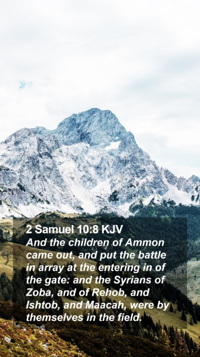 2 Samuel 10:8 KJV Mobile Phone Wallpaper - And the children of Ammon came out, and put the - Mobile Bible Verse Wallpaper