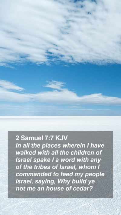 2 Samuel 7:7 KJV Mobile Phone Wallpaper - In all the places wherein I have walked with all - Mobile Bible Verse Wallpaper