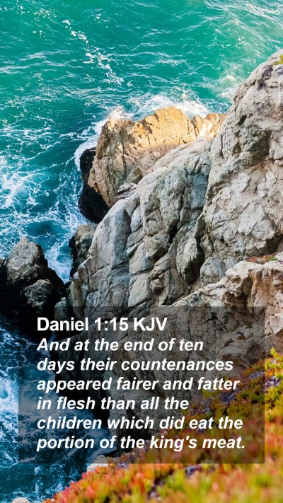 Daniel 1:15 KJV Mobile Phone Wallpaper - And at the end of ten days their countenances - Mobile Bible Verse Wallpaper