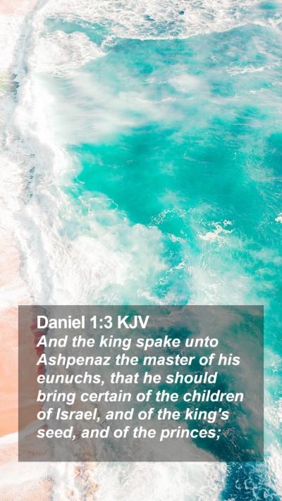 Daniel 1:3 KJV Mobile Phone Wallpaper - And the king spake unto Ashpenaz the master of - Mobile Bible Verse Wallpaper