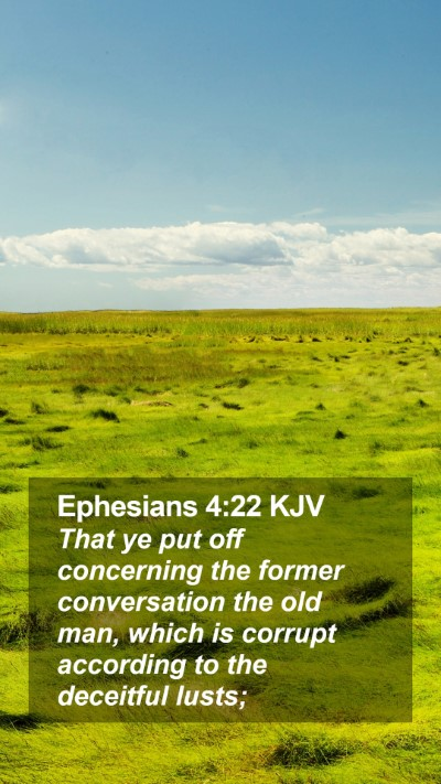 Ephesians 4:22 KJV Mobile Phone Wallpaper - That ye put off concerning the former - Mobile Bible Verse Wallpaper