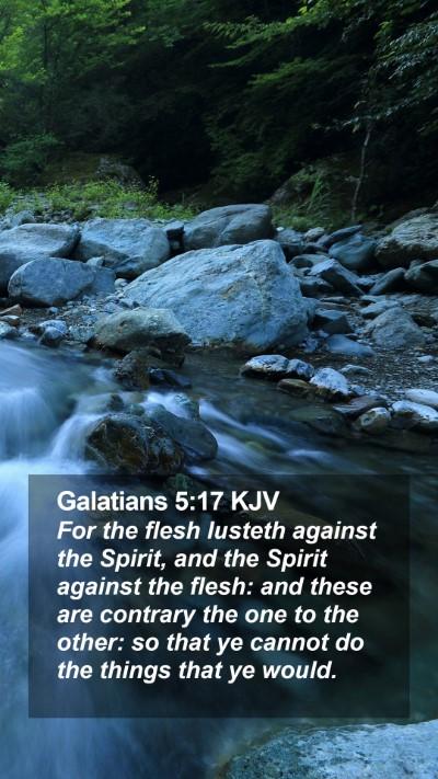 Galatians 5:17 KJV Mobile Phone Wallpaper - For the flesh lusteth against the Spirit, and the - Mobile Bible Verse Wallpaper