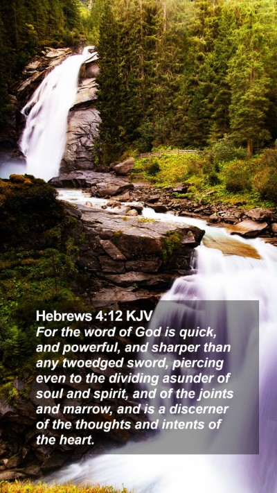 Hebrews 4:12 KJV Mobile Phone Wallpaper - For the word of God is quick, and powerful, and - Mobile Bible Verse Wallpaper