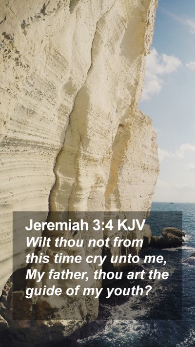 Jeremiah 3:4 KJV Mobile Phone Wallpaper - Wilt thou not from this time cry unto me, My - Mobile Bible Verse Wallpaper