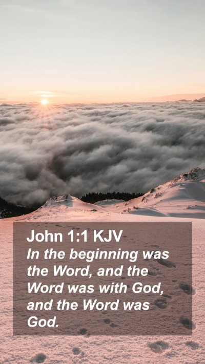 John 1:1 KJV Mobile Phone Wallpaper - In the beginning was the Word, and the Word was - Mobile Bible Verse Wallpaper