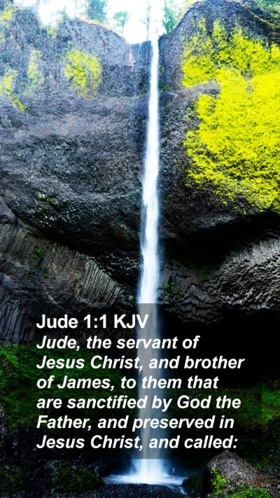 Jude 1:1 KJV Mobile Phone Wallpaper - Jude, the servant of Jesus Christ, and brother of - Mobile Bible Verse Wallpaper