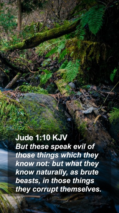 Jude 1:10 KJV Mobile Phone Wallpaper - But these speak evil of those things which they - Mobile Bible Verse Wallpaper