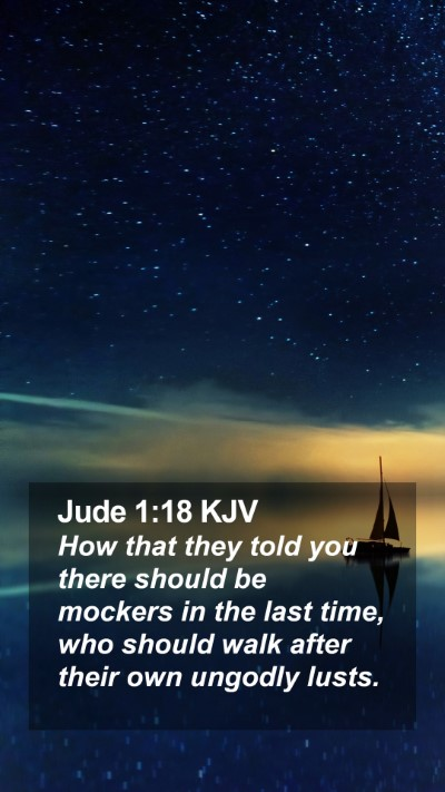 Jude 1:18 KJV Mobile Phone Wallpaper - How that they told you there should be mockers in - Mobile Bible Verse Wallpaper