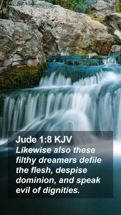 Jude 1:8 KJV Mobile Phone Wallpaper - Likewise also these filthy dreamers defile the - Mobile Bible Verse Wallpaper