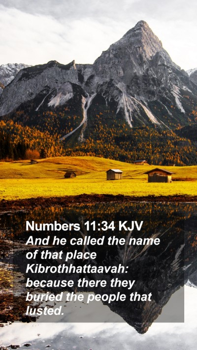 Numbers 11:34 KJV Mobile Phone Wallpaper - And he called the name of that place - Mobile Bible Verse Wallpaper