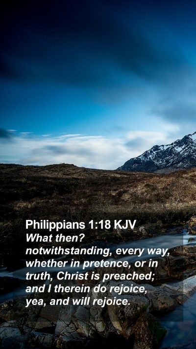 Philippians 1:18 KJV Mobile Phone Wallpaper - What then? notwithstanding, every way, whether in - Mobile Bible Verse Wallpaper