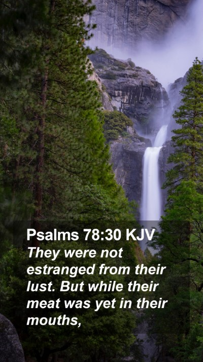 Psalms 78:30 KJV Mobile Phone Wallpaper - They were not estranged from their lust. But - Mobile Bible Verse Wallpaper