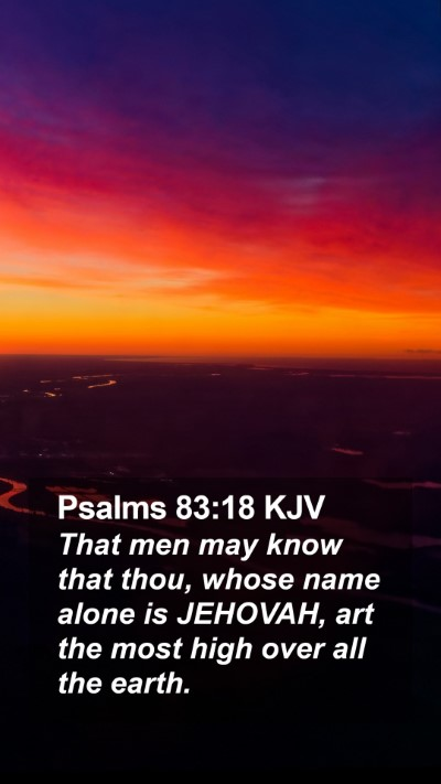 Psalms 83:18 KJV Mobile Phone Wallpaper - That men may know that thou, whose name alone is - Mobile Bible Verse Wallpaper