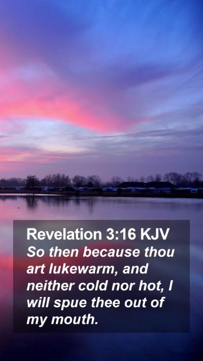 Revelation 3:16 KJV Mobile Phone Wallpaper - So then because thou art lukewarm, and neither - Mobile Bible Verse Wallpaper