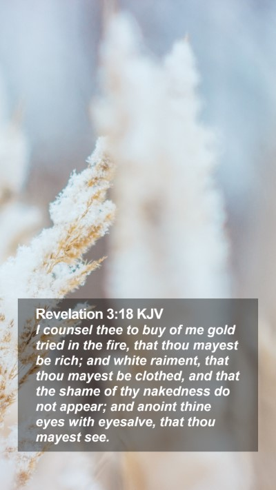 Revelation 3:18 KJV Mobile Phone Wallpaper - I counsel thee to buy of me gold tried in the - Mobile Bible Verse Wallpaper