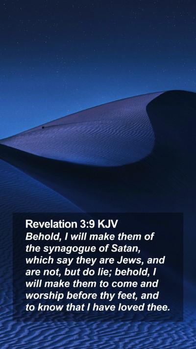 Revelation 3:9 KJV Mobile Phone Wallpaper - Behold, I will make them of the synagogue of - Mobile Bible Verse Wallpaper