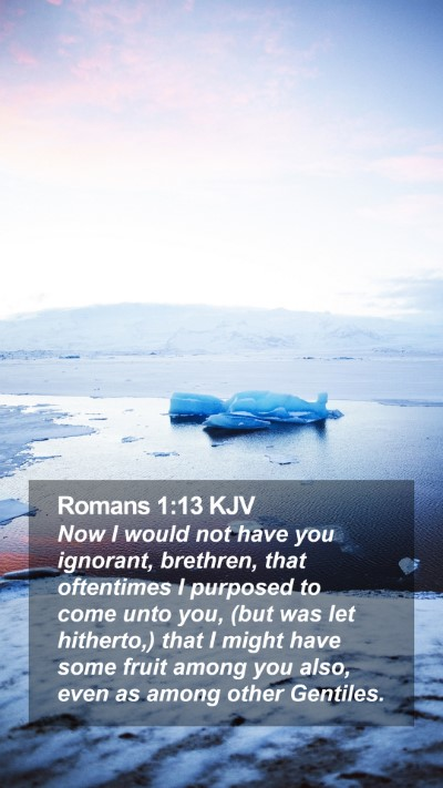Romans 1:13 KJV Mobile Phone Wallpaper - Now I would not have you ignorant, brethren, that - Mobile Bible Verse Wallpaper