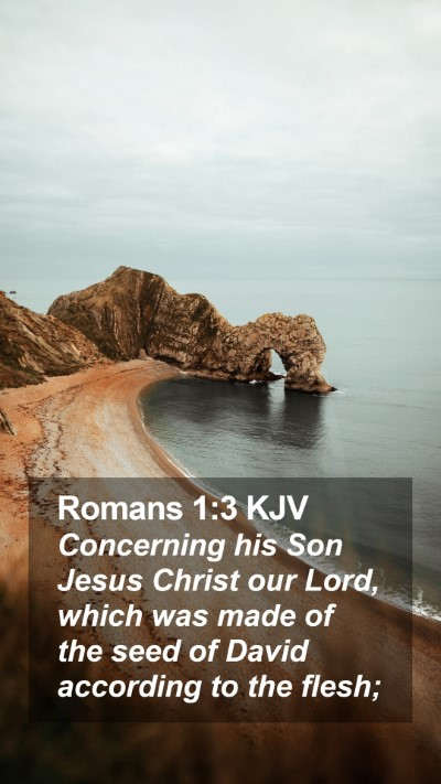 Romans 1:3 KJV Mobile Phone Wallpaper - Concerning his Son Jesus Christ our Lord, which - Mobile Bible Verse Wallpaper