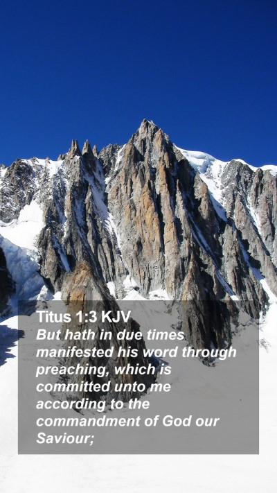 Titus 1:3 KJV Mobile Phone Wallpaper - But hath in due times manifested his word through - Mobile Bible Verse Wallpaper
