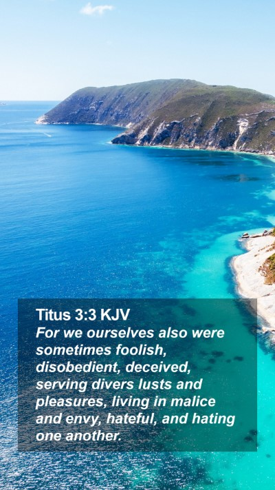 Titus 3:3 KJV Mobile Phone Wallpaper - For we ourselves also were sometimes foolish, - Mobile Bible Verse Wallpaper
