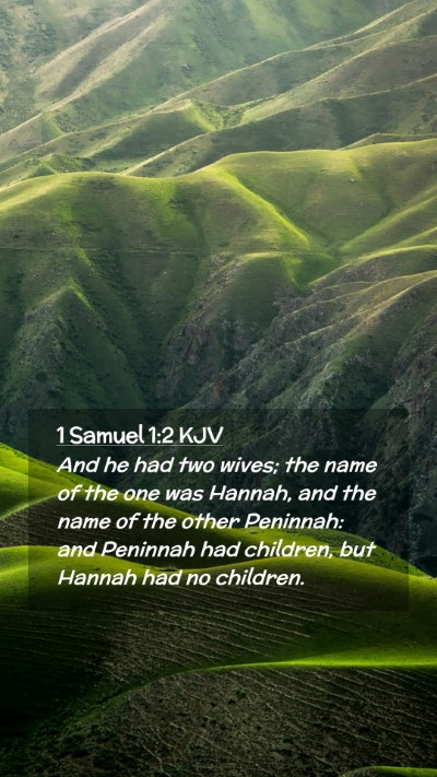 Picture 02 - 1 Samuel 1:2 KJV Mobile Phone Wallpaper - And he had two wives; the name of the one was - Mobile Bible Verse Wallpaper