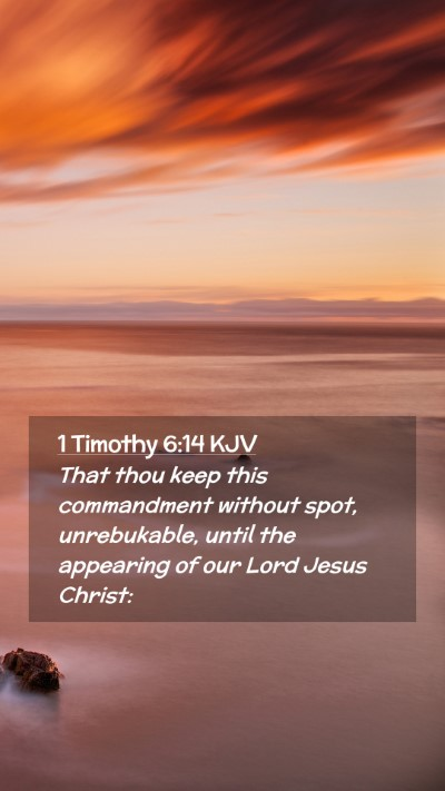 Picture 02 - 1 Timothy 6:14 KJV Mobile Phone Wallpaper - That thou keep this commandment without spot, - Mobile Bible Verse Wallpaper