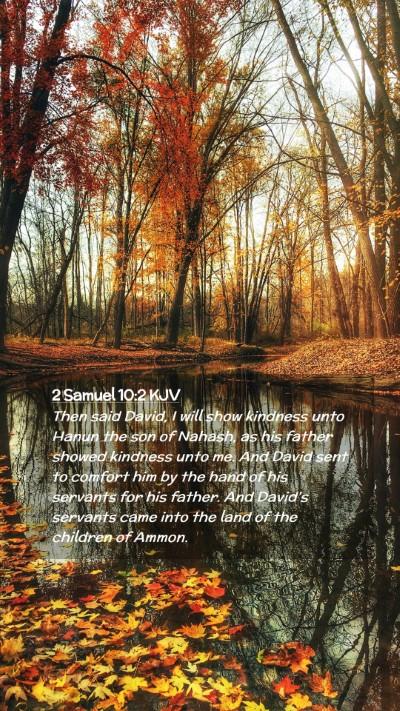 Picture 02 - 2 Samuel 10:2 KJV Mobile Phone Wallpaper - Then said David, I will show kindness unto Hanun - Mobile Bible Verse Wallpaper