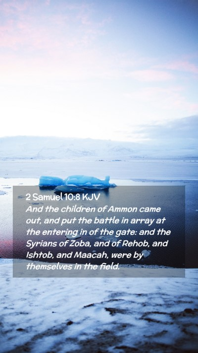 Picture 02 - 2 Samuel 10:8 KJV Mobile Phone Wallpaper - And the children of Ammon came out, and put the - Mobile Bible Verse Wallpaper