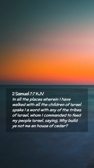 Picture 02 - 2 Samuel 7:7 KJV Mobile Phone Wallpaper - In all the places wherein I have walked with all - Mobile Bible Verse Wallpaper