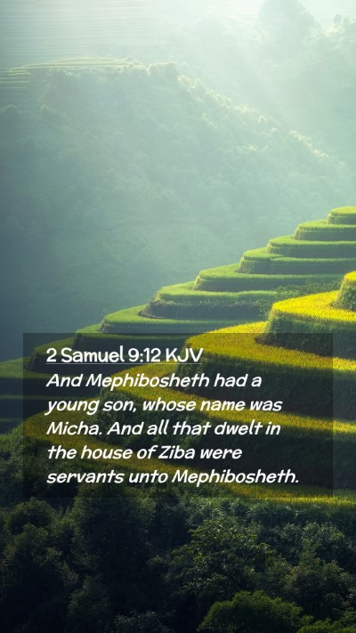 Picture 02 - 2 Samuel 9:12 KJV Mobile Phone Wallpaper - And Mephibosheth had a young son, whose name was - Mobile Bible Verse Wallpaper