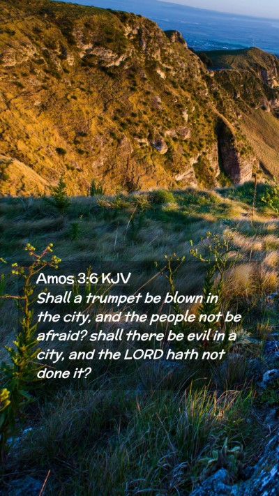 Picture 02 - Amos 3:6 KJV Mobile Phone Wallpaper - Shall a trumpet be blown in the city, and the - Mobile Bible Verse Wallpaper