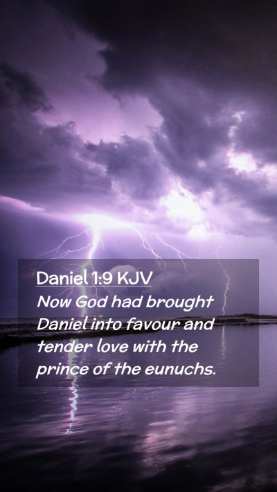 Picture 02 - Daniel 1:9 KJV Mobile Phone Wallpaper - Now God had brought Daniel into favour and tender - Mobile Bible Verse Wallpaper