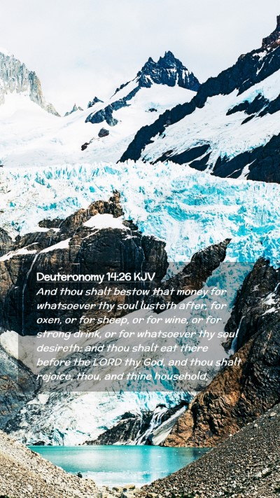 Picture 02 - Deuteronomy 14:26 KJV Mobile Phone Wallpaper - And thou shalt bestow that money for whatsoever - Mobile Bible Verse Wallpaper