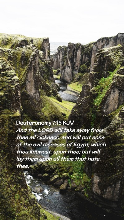 Picture 02 - Deuteronomy 7:15 KJV Mobile Phone Wallpaper - And the LORD will take away from thee all - Mobile Bible Verse Wallpaper