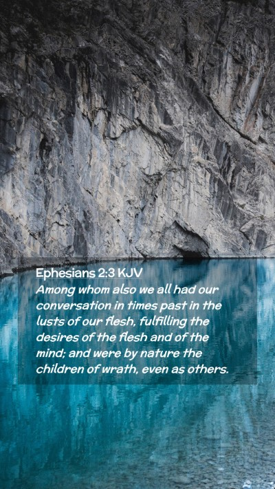 Picture 02 - Ephesians 2:3 KJV Mobile Phone Wallpaper - Among whom also we all had our conversation in - Mobile Bible Verse Wallpaper
