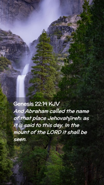 Picture 02 - Genesis 22:14 KJV Mobile Phone Wallpaper - And Abraham called the name of that place - Mobile Bible Verse Wallpaper