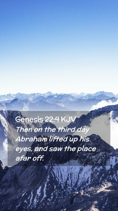 Picture 02 - Genesis 22:4 KJV Mobile Phone Wallpaper - Then on the third day Abraham lifted up his eyes, - Mobile Bible Verse Wallpaper
