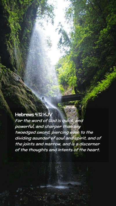 Picture 02 - Hebrews 4:12 KJV Mobile Phone Wallpaper - For the word of God is quick, and powerful, and - Mobile Bible Verse Wallpaper