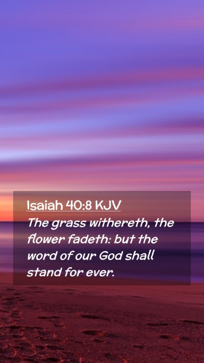 Picture 02 - Isaiah 40:8 KJV Mobile Phone Wallpaper - The grass withereth, the flower fadeth: but the - Mobile Bible Verse Wallpaper
