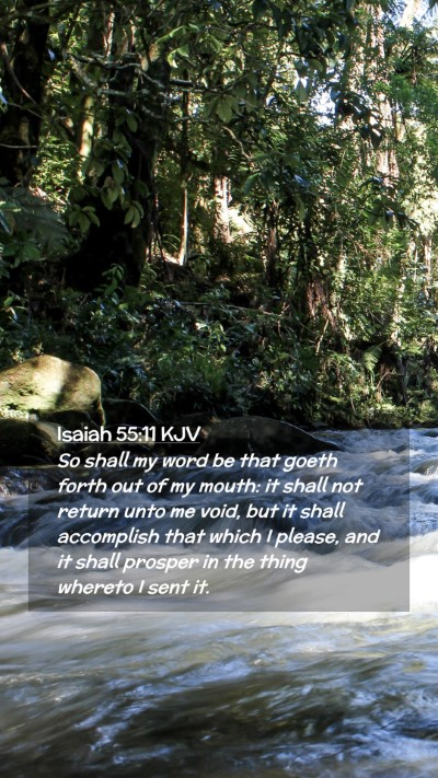 Picture 02 - Isaiah 55:11 KJV Mobile Phone Wallpaper - So shall my word be that goeth forth out of my - Mobile Bible Verse Wallpaper